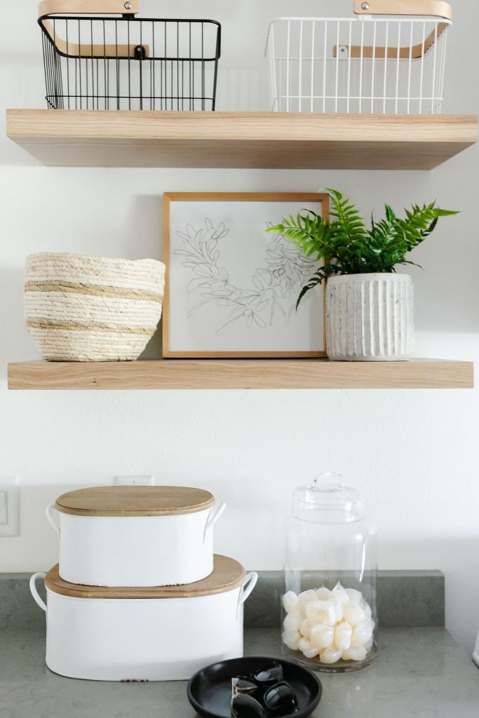 laundry room storage baskets for rags