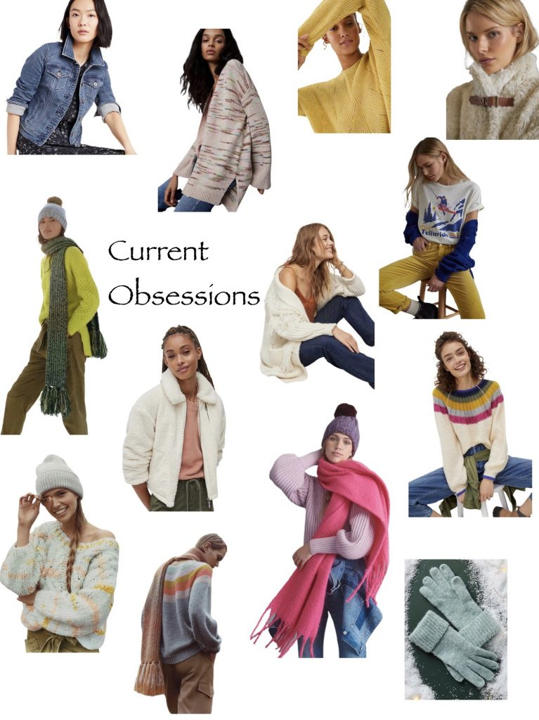 Gift ideas for her Anthropologie.com favorite things including cozy sweaters, cute tee shirts, denim jackets, faux fur coats and more