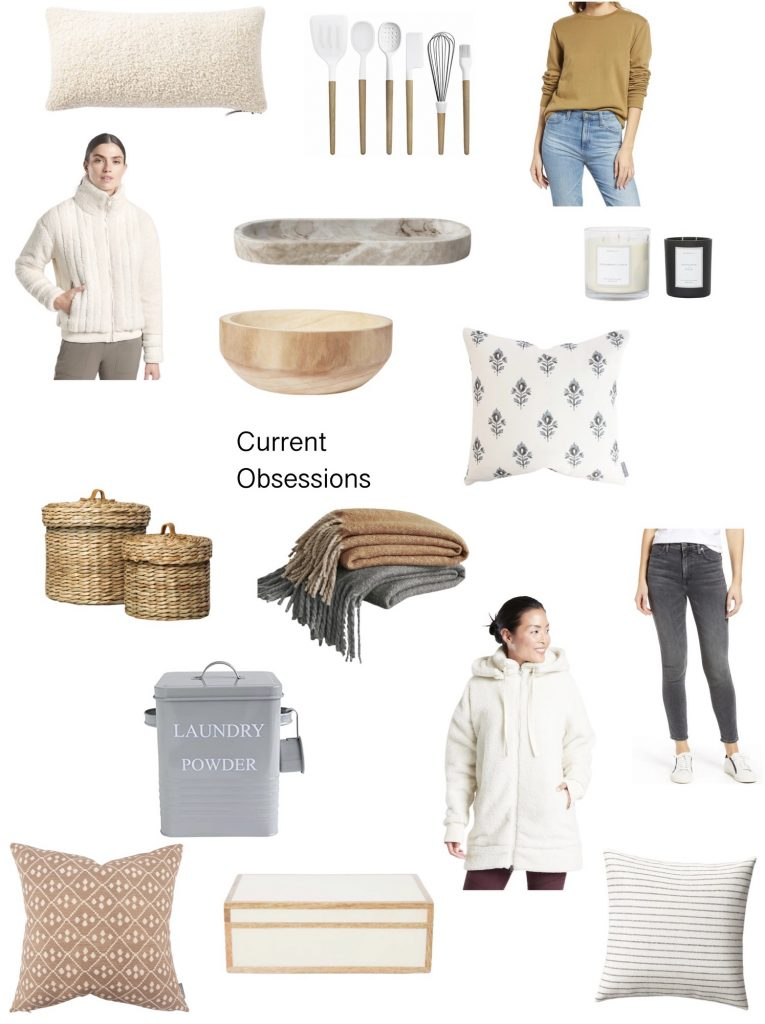 Current Obsessions: What I'm loving this week.  Jeans, cozy blankets, home decor, my favorite candle and more.