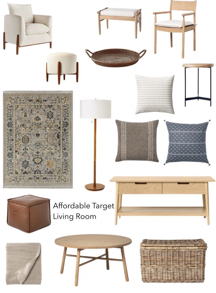 target living room furniture and decor including coffee tables, baskets, ottomans, pillows, rugs, lighting and more