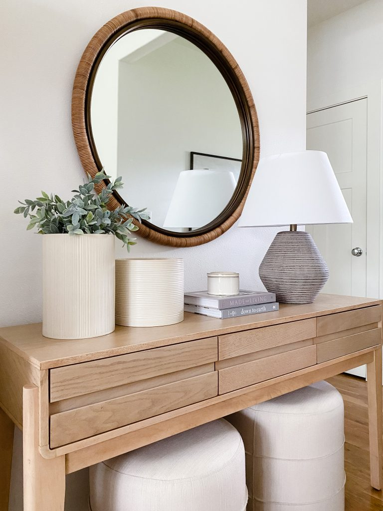 affordable console table decor
