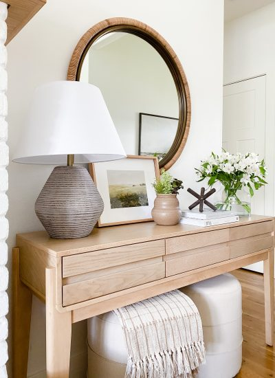 Console Table Decorating Ideas On A Budget
