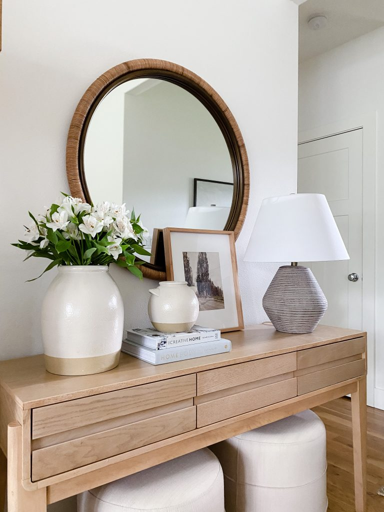 console table decor pieces on a budget