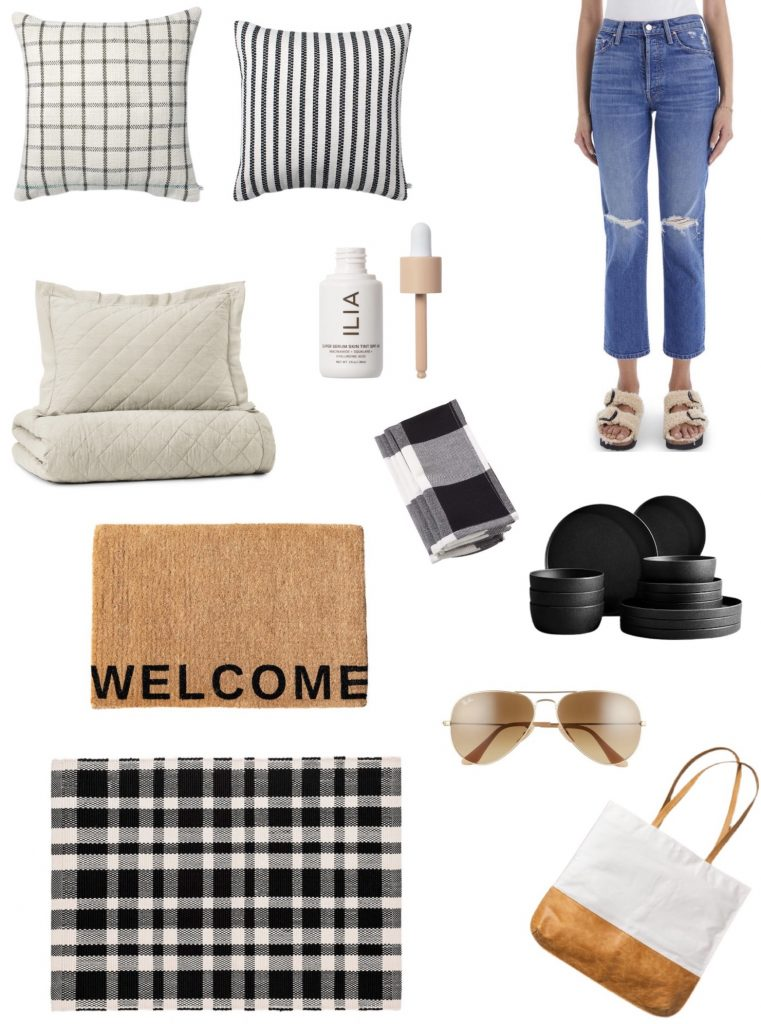 current obsessions: what I'm loving this week.  Cute denim for summer, outdoor pillows, my favorite new sunscreen, a great everyday bag, adorable front porch items.