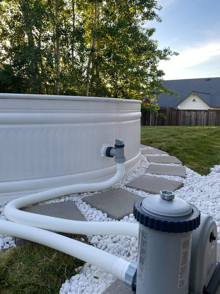 the pumps are installed on the stock tank pool