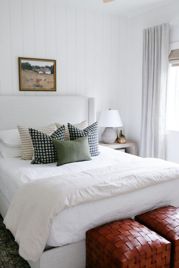 transition your home from summer to fall with throw pillows, lighting, artwork, throw blankets, lighting